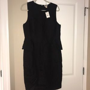 J crew new with tags peplum dress